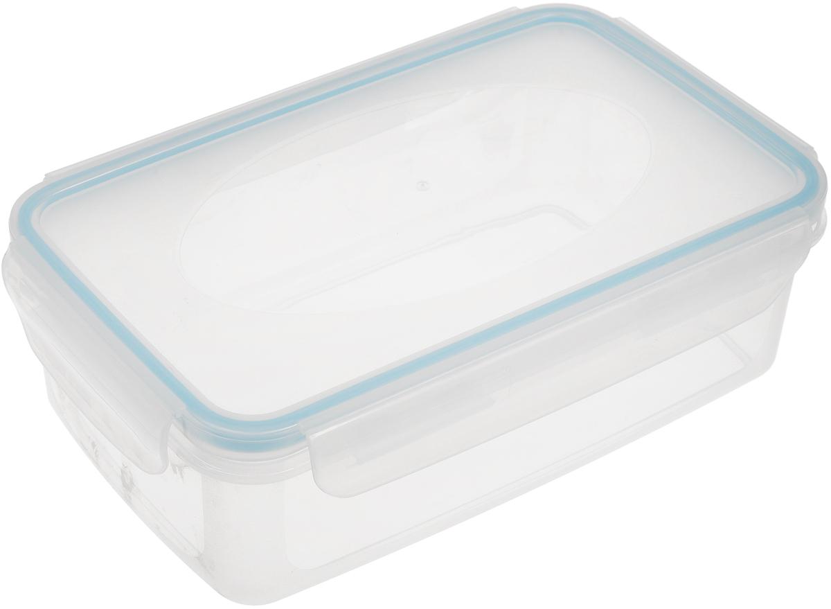 """Пищевой контейнер """"Axentia"""" изготовлен из высококачественного  пластика. Герметичная крышка с уплотнителем надежно закрывается на защелки, и  продукты дольше остаются свежими.   Подходит для мытья в посудомоечной машине, хранения в холодильных и  морозильных камерах, использования в СВЧ-печах. Выдерживает резкий перепад  температур."""