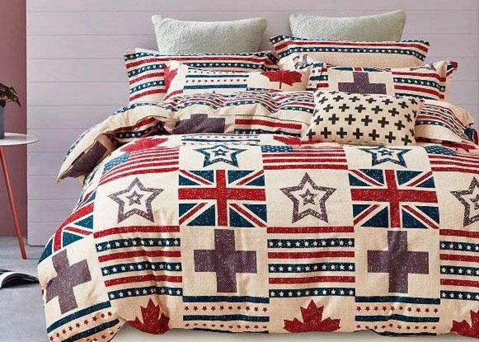 Комплект постельного белья Dome Cindra, семейный, наволочки 70x70