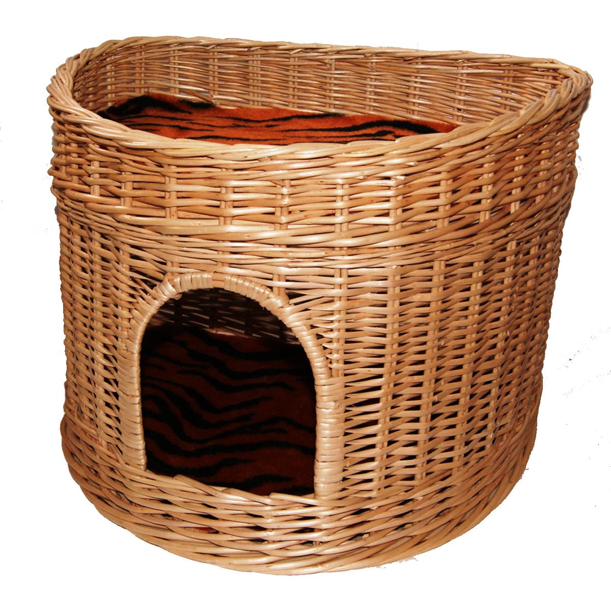 Домик для кошек Меридиан, 2-ярусный, цвет: тигровый, 55 х 40 х 42 см домик когтеточка меридиан квадратный 2 ярусный с игрушкой цвет белый черный бежевый 50 х 36 х 75 см