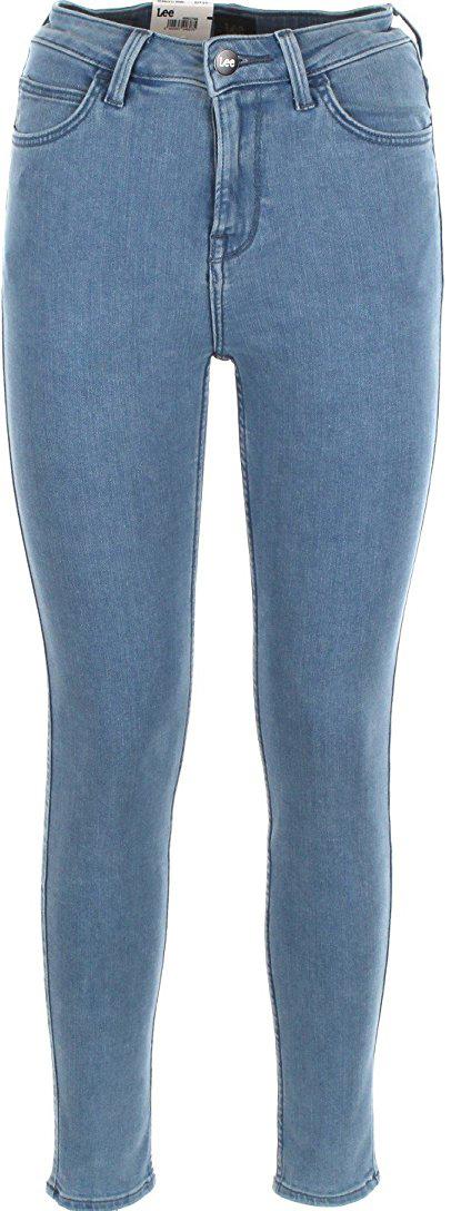 Джинсы женские Lee Scarlett High, цвет: синий. L626HABM. Размер 32-31 (48-31) джинсы мужские lee daren zip fly цвет светло синий l707acdk размер 30 32 46 32