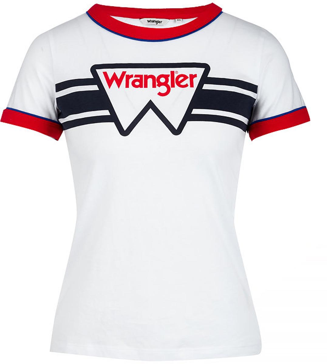 Футболка женская Wrangler, цвет: белый. W710SEV12. Размер S (42)W710SEV12