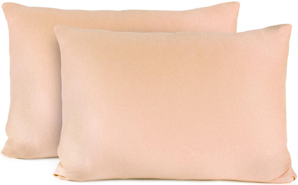 Наволочка Sleep iX Sanne, цвет: чайная роза, 70x70 см 2 штpva282146Джерси- тонкий податливый трикотажный материал из тех, что нежно ласкают тело.Обладает определенной эластичностью и способностью растягиваться. Простыни на резинке Джерси великолепного плетения отличаются мягкостью, легкостью в уходе, не требуют глаж