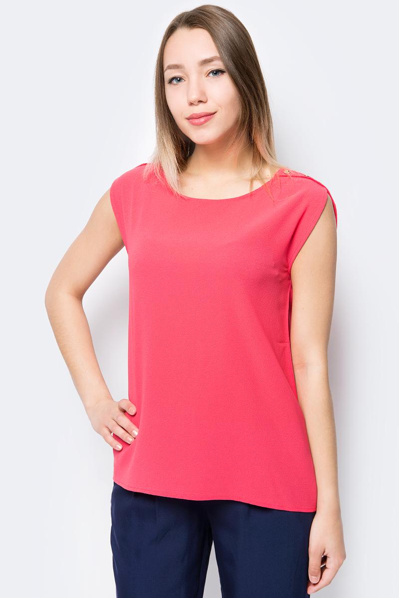 все цены на Блузка женская Sela, цвет: коралловый. Tws-112/356-8263. Размер 48 онлайн