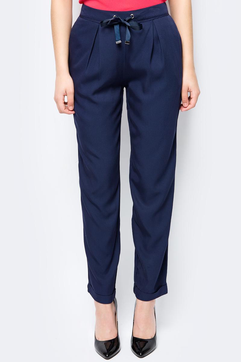 Брюки женские Sela, цвет: темно-синий. P-115/170-8233. Размер 50 брюки женские sela цвет темно синий p 115 201 8122 размер 48