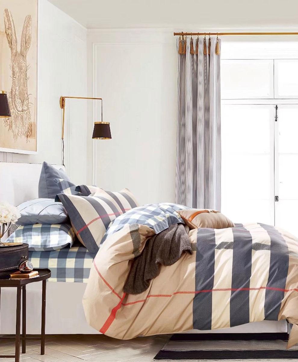 Комплект постельного белья Tango Nan, 1,5-спальный, наволочки 50x70tan347264Наволочки с декоративным кантом особенно подойдут, если вы предпочитаете класть подушки поверх покрывала. Кайма шириной 5-10 см с трех или четырех сторон делает подушки визуально более объемными, смотрятся они очень аккуратно, даже парадно. Еще такие наволочки называют оксфордскими или наволочками «с ушками».Сатин средней плотности – золотая середина среди сатинового постельного белья. Он достаточно плотный, долго не изнашивается, но стоит дешевле сатина повышенной плотности. Комплект из сатина не блестит как шелк, но приятен на ощупь и довольно мягкий. Краска на этой ткани держится очень хорошо: новое белье не полиняет и со временем не станет выцветать.