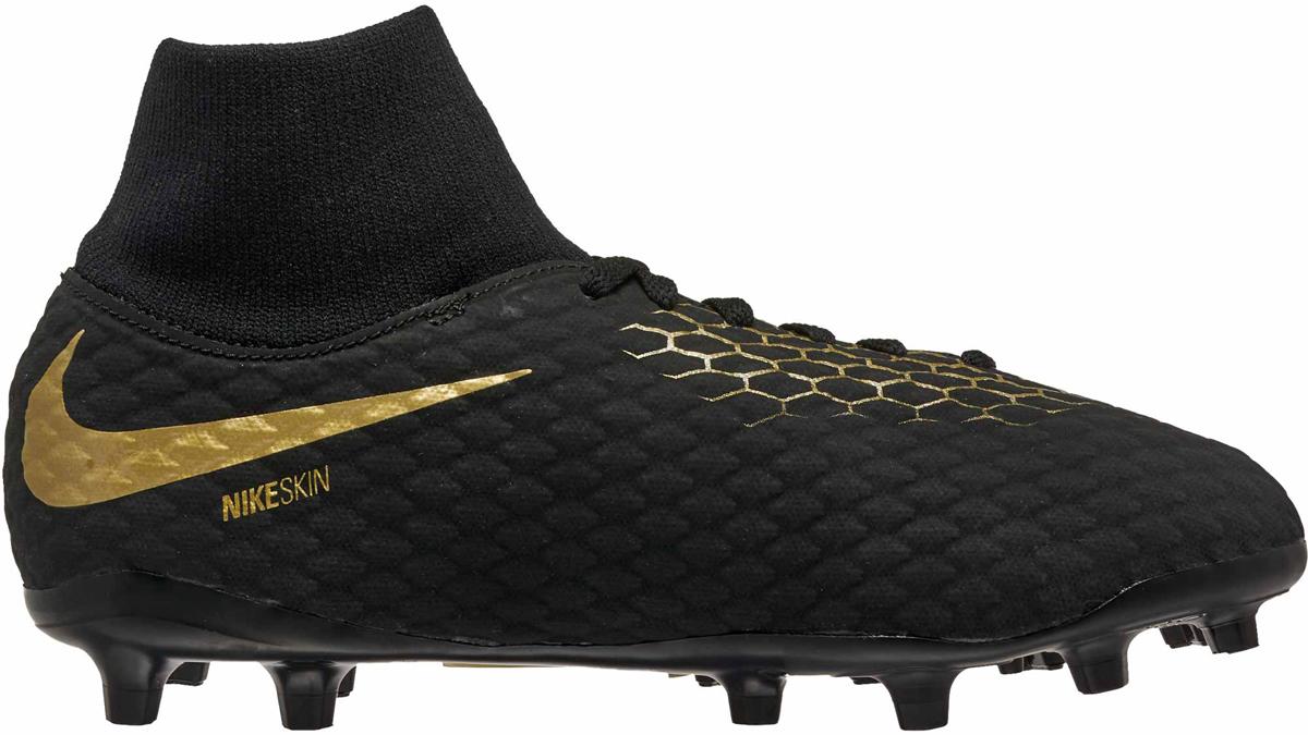 Бутсы для мальчика Nike Jr Phantom 3 Academy Df Fg, цвет: черный. AH7287-090. Размер 3,5Y (34,5)
