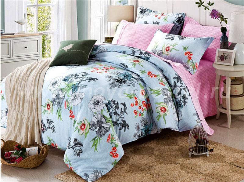 Комплект постельного белья Eleganta Elfrieda, 2-спальный, наволочки 70x70 комплект постельного белья 2 спальный из сатина seta цвет голубой розовый