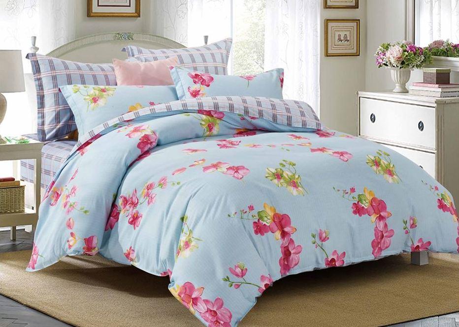 Комплект постельного белья Eleganta Fresh, 2-спальный, наволочки 70x70 комплект постельного белья 2 спальный из сатина seta цвет голубой розовый