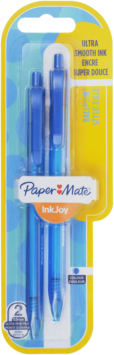 Paper Mate Ручка шариковая автоматическая InkJoy 100 цвет чернил синий 2 шт wide format printer machinetake up system paper collector paper receiver for roland mimaki mutoh