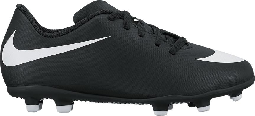 Бутсы для мальчика Nike JrBravata Ii Fg, цвет: черный. 844442-001. Размер 1,5Y (32)