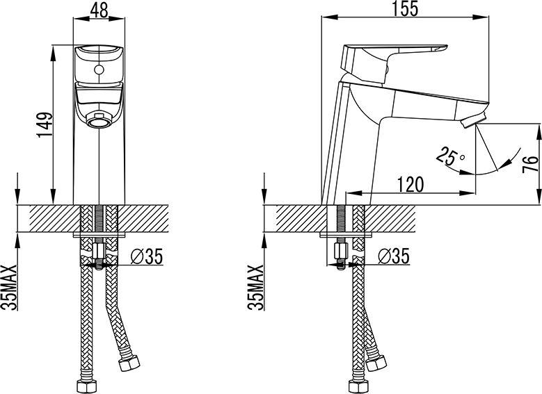 Смеситель для умывальника IDDIS® изготовлен из высококачественной первичной латуни, прочной, безопасной и стойкой к коррозии. Инновационные технологии литья и обработки латуни, а также увеличенная толщина стенок смесителя обеспечивают его стойкость к перепадам давления и температур.  Увеличенное никель-хромовое покрытие полностью соответствует европейским стандартам качества, обеспечивает его стойкость и зеркальный блеск в течение всего срока службы изделия.  Благодаря гладкой внутренней поверхности смесителя, рассекателям в водозапорных механизмах и аэратору он имеет минимальный уровень шума. Гарантия на смесители IDDIS® – 10 лет.