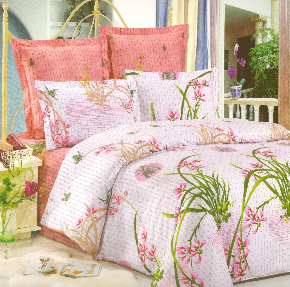 Комплект постельного белья СайлиД Nathalie, 2-спальный, наволочки 50x70, цвет: белый, сиреневый, розовыйsail36399Наволочки с декоративным кантом особенно подойдут, если вы предпочитаете класть подушки поверх покрывала. Кайма шириной 5-10 см с трех или четырех сторон делает подушки визуально более объемными, смотрятся они очень аккуратно, даже парадно. Еще такие наволочки называют оксфордскими или наволочками «с ушками».Сатин – прочная и плотная ткань с диагональным переплетением нитей. Хлопковый сатин по мягкости и гладкости уступает атласу, зато не будет соскальзывать с кровати. Сатиновое постельное белье легко переносит стирку в горячей воде, не выцветает. Прослужит комплект из обычного сатина меньше, чем из сатина повышенной плотности, но дольше белья из любой другой хлопковой ткани. Сатин приятен на ощупь, под ним комфортно спать летом и зимой.