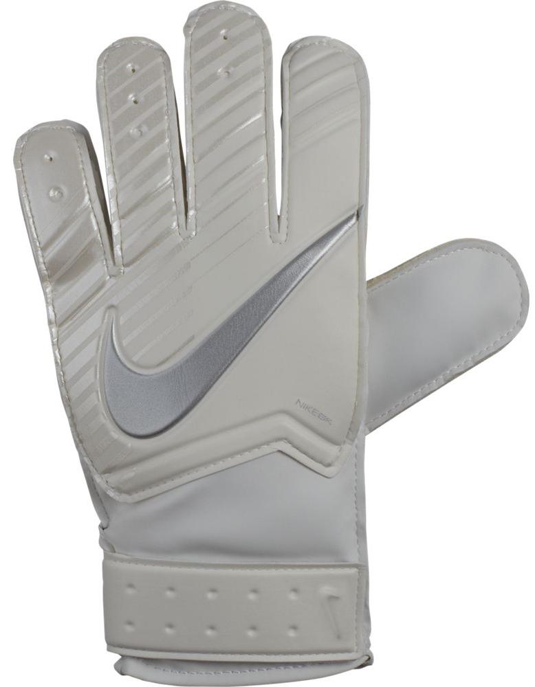 "Перчатки вратарские детские Nike ""Kids' Match Goalkeeper Football Gloves"", цвет: бежевый, белый. Размер 5"