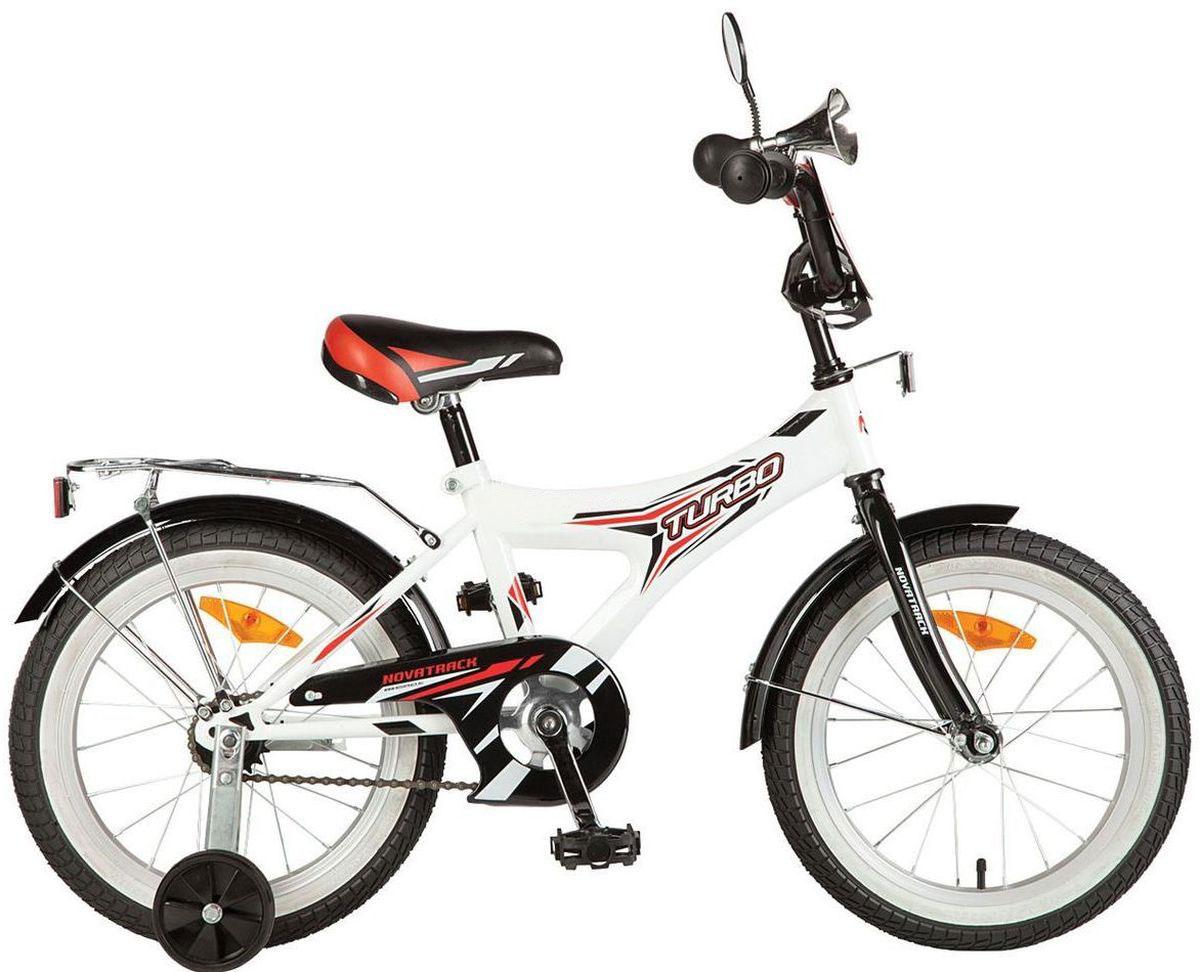 Велосипед детский Novatrack Turbo, цвет: белый, черный 20