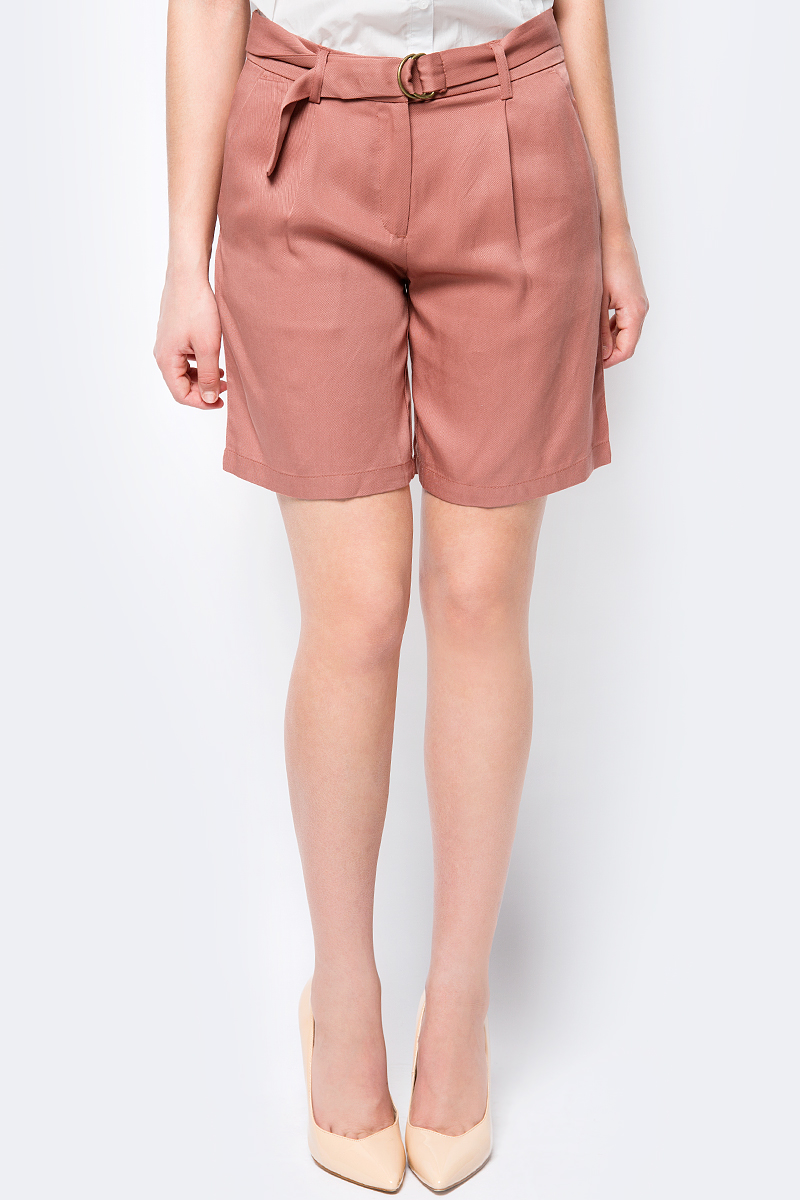 Шорты женские Sela, цвет: коричневый. SH-115/540-8223. Размер 42SH-115/540-8223