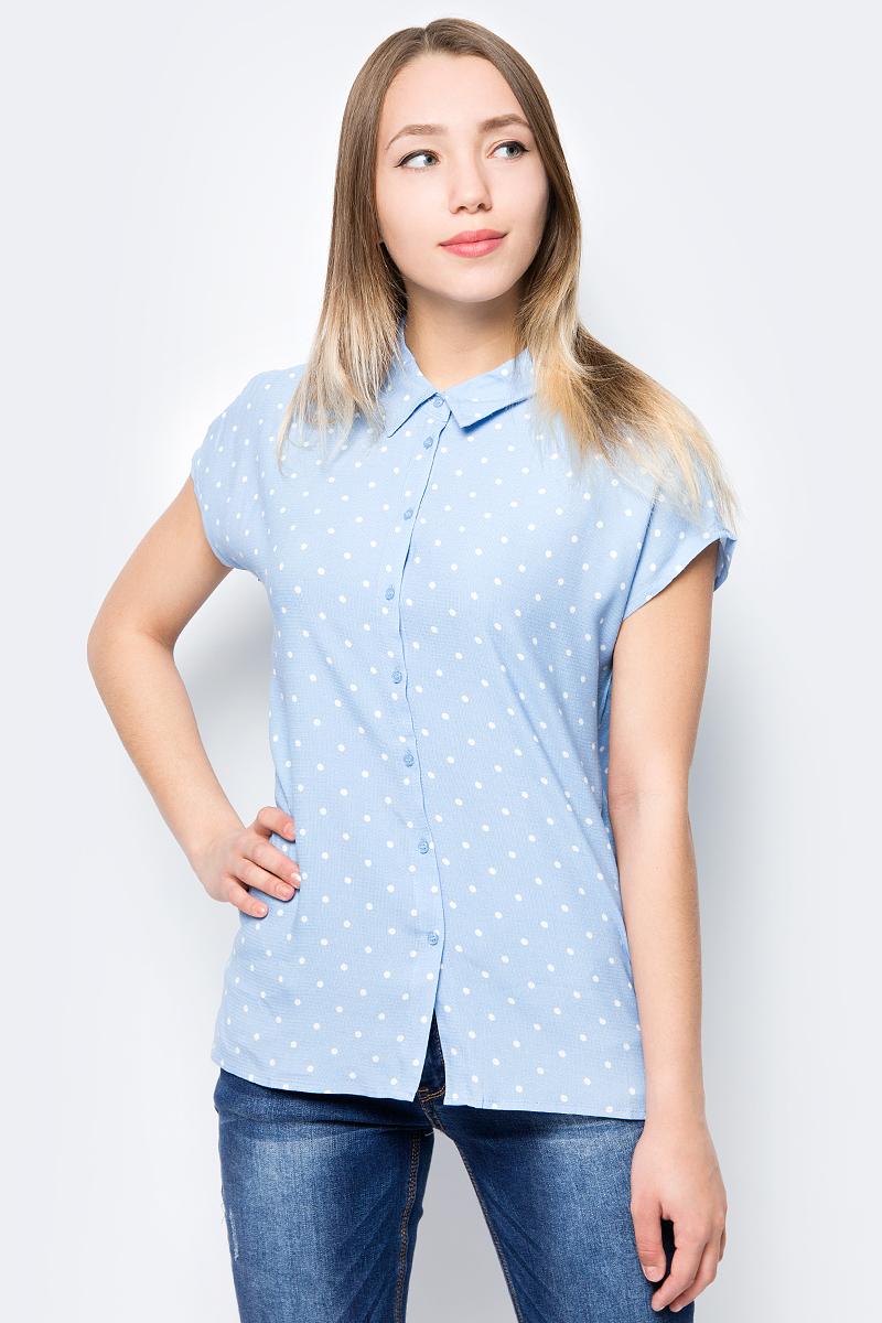 где купить Блузка женская Sela, цвет: голубой. Bs-112/352-8293. Размер 52 дешево