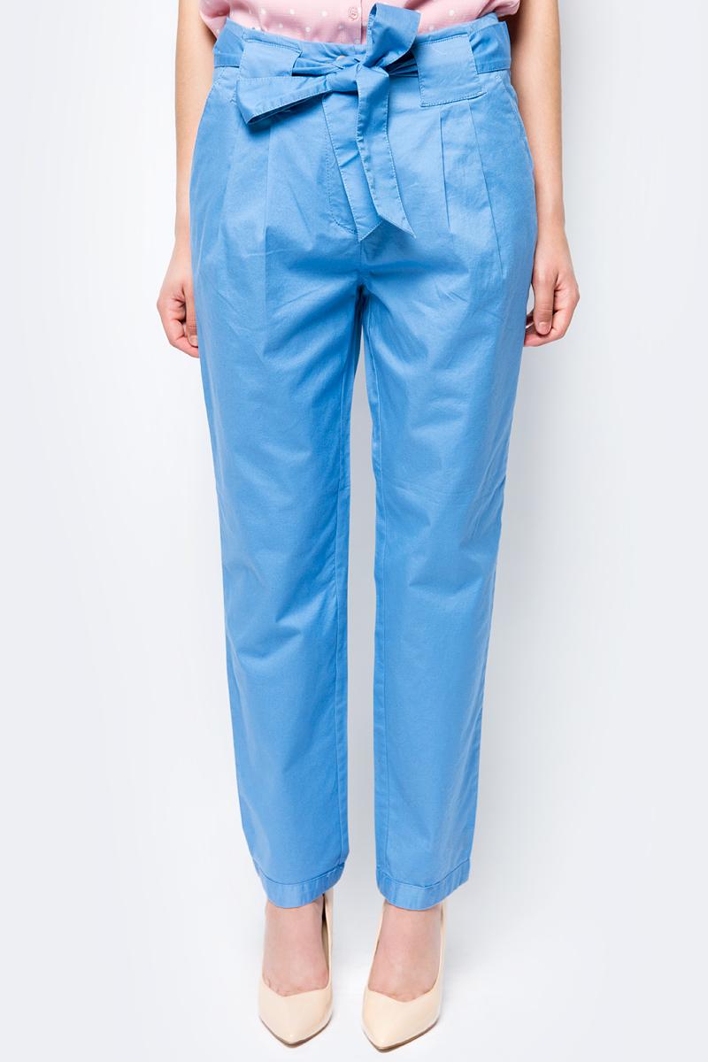 Брюки женские Sela, цвет: голубой. P-115/171-8224. Размер 48 брюки женские sela цвет темно синий p 115 201 8122 размер 48