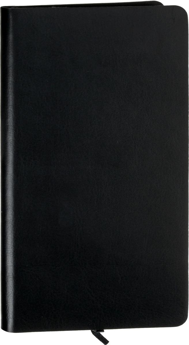Listoff Записная книжка Smart Book в точку 80 листов цвет черныйКЗСБКЛ6802244Записная книжка Канц-Эксмо Smart Book карманного формата (90х178 мм) великолепно подойдет для заметок и зарисовок и позволит систематизировать поступающую информацию. Книжка имеет сшитый внутренний блок из белой офсетной бумаги плотностью 70гр/м2 с закругленными углами. Специальная разметка – точки – позволяет использовать книжку как в горизонтальном, так и в вертикальном формате. Интегральный переплет выполнен из высококачественной искусственной кожи. Изделие дополнено ляссе.