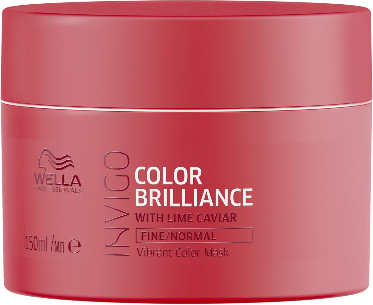 Wella Invigo Color Brilliance Маска-уход для защиты цвета окрашенных тонких и нормальных волос,, 150 мл81648687Интенсивно ухаживает за окрашенными волосами, сохраняя их яркими и блестящими. Разглаживает поверхность волос, увлажняет и предотвращает их спутывание. Защитная технология Anti Oxidant Shield.С формулой Color Brilliance-Бленд: Инкапсулирующие медь молекулы поддерживают яркость. Гистидин и витамин Е помогают контролировать процесс окисления после окрашивания и защищают цвет. Лаймовая икра содержит витамины и антиоксиданты.Объем: 150 мл