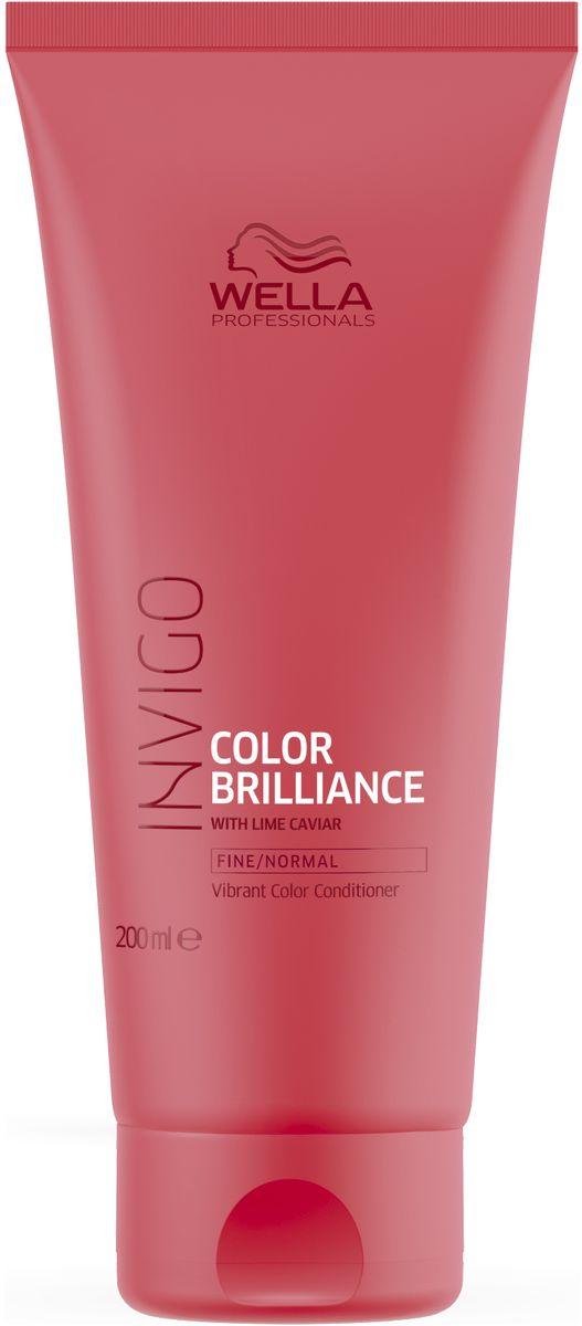 Wella Invigo Color Brilliance Бальзам-уход для защиты цвета окрашенных нормальных и тонких волос, 200 мл