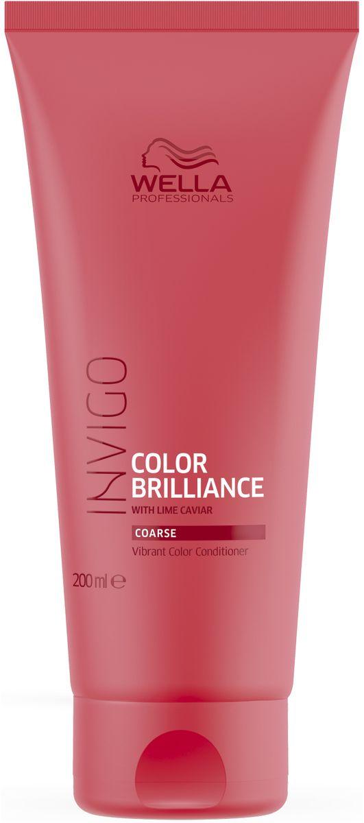 Wella Invigo Color Brilliance Бальзам-уход для защиты цвета окрашенных жестких волос, 200 мл