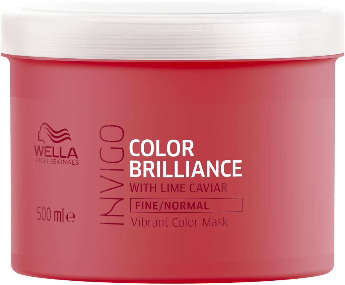 Wella Invigo Color Brilliance Маска-уход для защиты цвета окрашенных тонких и нормальных волос, 500 мл81648813Интенсивно ухаживает за окрашенными волосами, сохраняя их яркими и блестящими. Разглаживает поверхность волос, увлажняет и предотвращает их спутывание. Защитная технология Anti Oxidant Shield.С формулой Color Brilliance-Бленд: Инкапсулирующие медь молекулы поддерживают яркость. Гистидин и витамин Е помогают контролировать процесс окисления после окрашивания и защищают цвет. Лаймовая икра содержит витамины и антиоксиданты.Объем: 500 мл