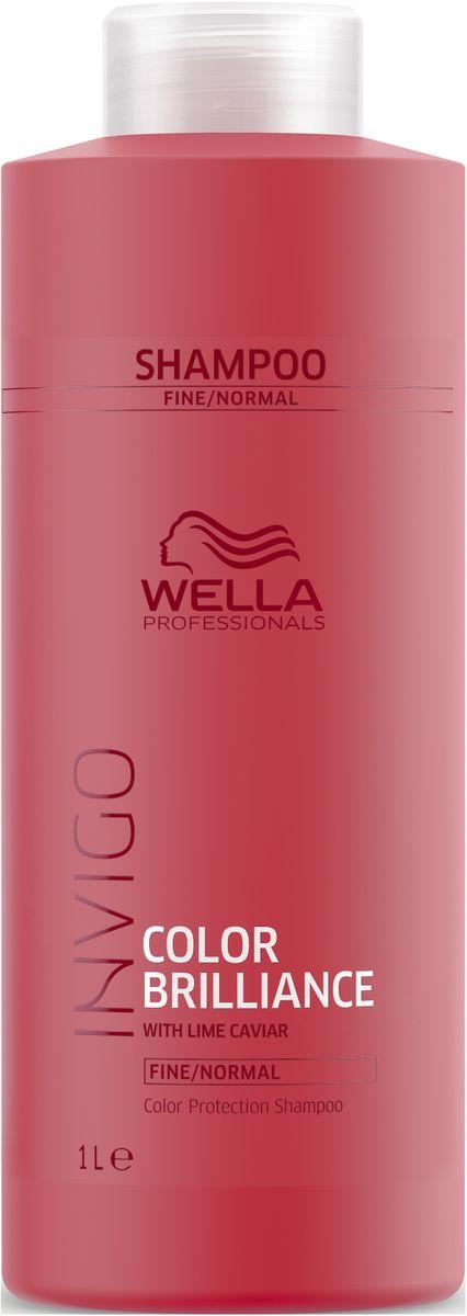 Wella Invigo Color BrillianceШампунь для защиты цвета окрашенных нормальных и тонких волос, 1 л