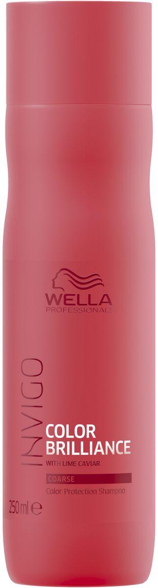 Wella Invigo Color Brilliance Шампунь для защиты цвета окрашенных жестких волос, 250 мл81648837Шампунь для защиты цвета Invigo Color Brilliance. Поддерживает яркость цвета окрашенных волос. С защитной технологией Anti-Oxidant Shield. С формулой Color Brilliance-Бленд: Инкапсулирующие медь молекулы поддерживают яркость. Гистидин и витамин Е помогают контролировать процесс окисления после окрашивания и защищают цвет. Лаймовая икра содержит витамины и антиоксиданты.Объем: 250 мл