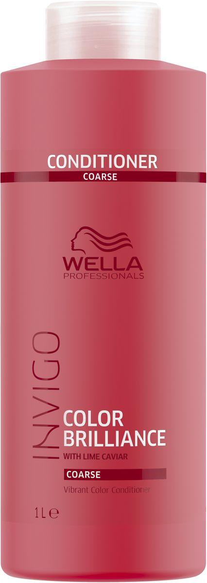 Wella Invigo Color Brilliance Бальзам-уход для защиты цвета окрашенных жестких волос, 1 л81648841Бальзам-уход для защиты цвета Invigo Color Brilliance. Увлажняет окрашенные волосы, делая их мягкими и блестящими. Сохраняет насыщенность и яркость цвета. Защитная технология Anti-Oxidant Shield.С формулой Color Brilliance-Бленд: Инкапсулирующие медь молекулы поддерживают яркость. Гистидин и витамин Е помогают контролировать процесс окисления после окрашивания и защищают цвет. Лаймовая икра содержит витамины и антиоксиданты.Объем: 1000 мл