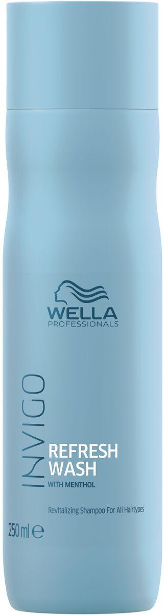 Wella Invigo Refresh Wash Оживляющий шампунь для всех типов волос, 250 мл wella неаэрозольный моделирующий спрей flexible finish 250 мл