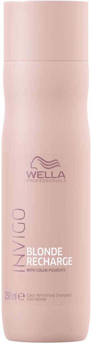 Wella Invigo Blond Recharge Шампунь-нейтрализатор желтизны для холодных светлых оттенков, 250 мл lacoste брюки lacoste hf020103m синий