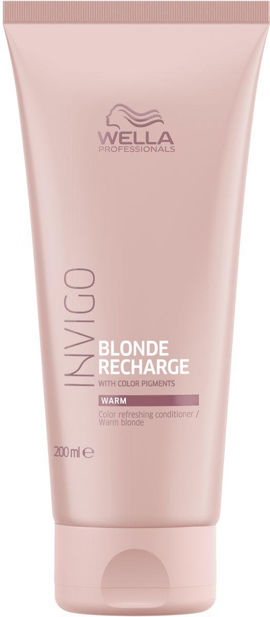 Wella Invigo Blond Recharge Оттеночный бальзам-уход для теплых светлых оттенков, 200 мл81650087Оживляет цвет и сохраняет насыщенность и многообразие оттенков блонд. Содержит увлажняющие ингредиенты для интенсивного ухода за волосами.Объем: 200 мл