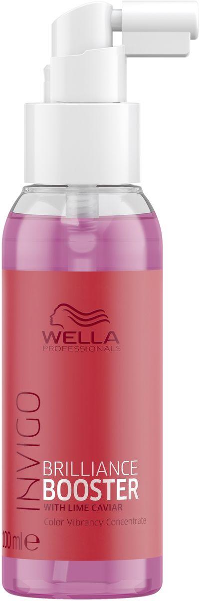 Wella Invigo Color Brilliance Бустер-концентрат для защиты яркости цвета, 100 мл81650154Эксклюзивная формула с двойным миксом масел, витамином Е и экстрактом лаймовой икры. Усиливает результат от применения бальзама или маски и защищает цвет окрашенных волос.С формулой Color Brilliance-Бленд: Инкапсулирующие медь молекулы поддерживают яркость. Гистидин и витамин Е помогают контролировать процесс окисления после окрашивания и защищают цвет. Лаймовая икра содержит витамины и антиоксиданты.Объем: 100 мл