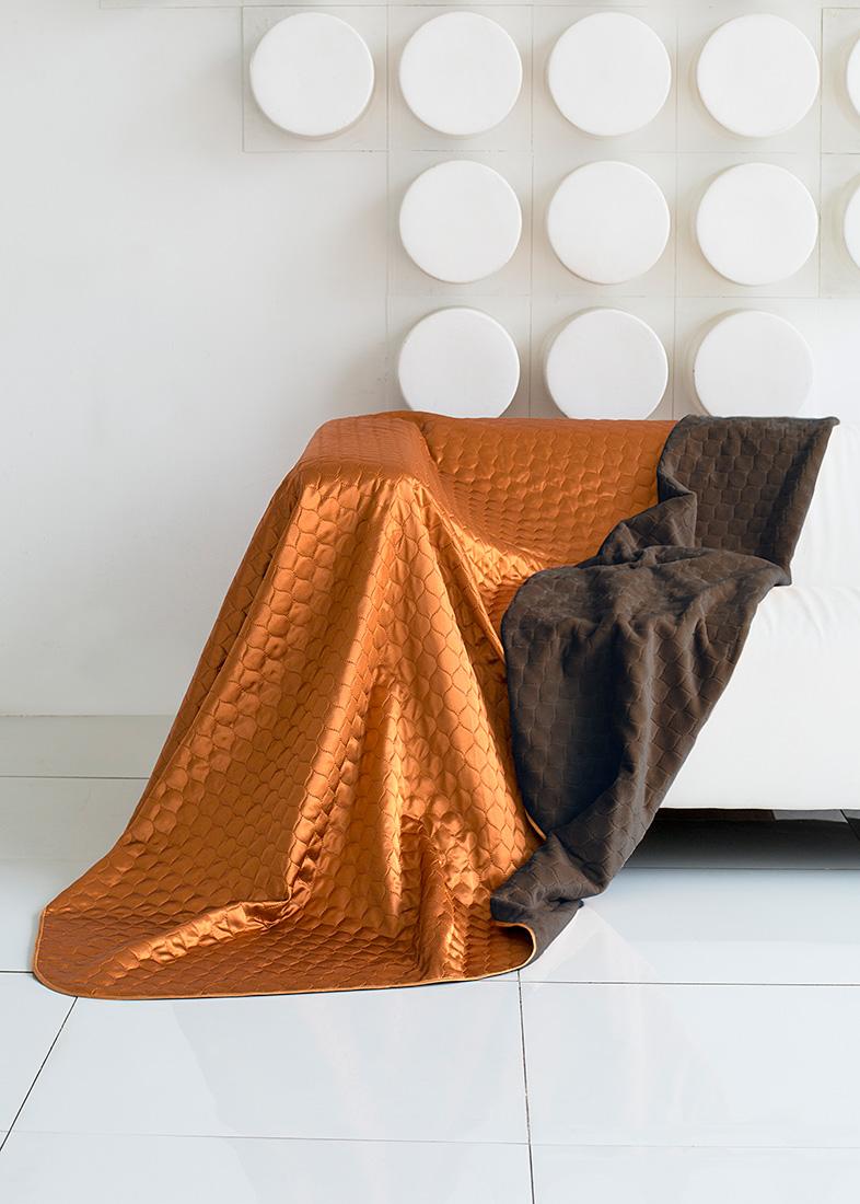 Покрывало Sleep IX, цвет: коричневый, оранжевый, 180 х 220 см. maa214810maa214810Покрывало двухстороннее, изготовлено способом ультрастеп (термостёжка).Материл верха: Искусственный Шелк (SilkSatin) Материал низа: Искусственный мех (SilkenFur) (короткий, однотонный)Плед (покрывало) из искусственного меха непременно станет ярким акцентом в интерьере. С его помощью можно красиво и уютно оформить кровать, диван или кресло. Пледы (покрывала) из искусственного меха разнообразны по фактуре и цветовой гамме, они имитируют мех различных животных, имеют мягкую, приятную на ощупь подкладку под замшу. Пледы (покрывала) смотрятся богато и изысканно, способны создать атмосферу спокойствия и уюта, как в загородном доме, так и в городской квартире. За пледом (покрывалом) из искусственного меха проще ухаживать, чем натуральным. Плед (покрывало) из натурального меха стоит намного дороже, ведь они экологичны. Покрывало из атласного шелка – это потрясающий внешний вид, яркий блеск, невыцветающие рисунки. Конечно, атласный шелк нельзя сравнивать с натуральным шелком по долговечности и полезным для здоровья свойствам, но смотрится так же ярко и нарядно. Ухаживать за покрывалом из декоративного шелка достаточно просто: он не выгорает на солнце, быстро сохнет и совсем не мнется. Как любая синтетическая ткань, атласный шелк накапливает статическое электричество, плохо пропускает воздух и отводит влагу. Но все недостатки скрашиваются его поистине королевским внешним видом.Кант на пледах и покрывалах имеет не только практическое значение, но может быть и красивым декором. Обычный кант выполняется из вискозы или атласа, он почти незаметный и служит для сохранения формы изделия. Декоративный кант обычно довольно широкий, выполнен из контрастной ткани или из ткани в тон. Зачастую декоративный кант украшен вышивкой, стразами или кружевом.Стежка на покрывалах и пледах позволяет не только зафиксировать наполнитель и подкладку, но также она может стать дополнительным украшением изделия. Стежки бываю