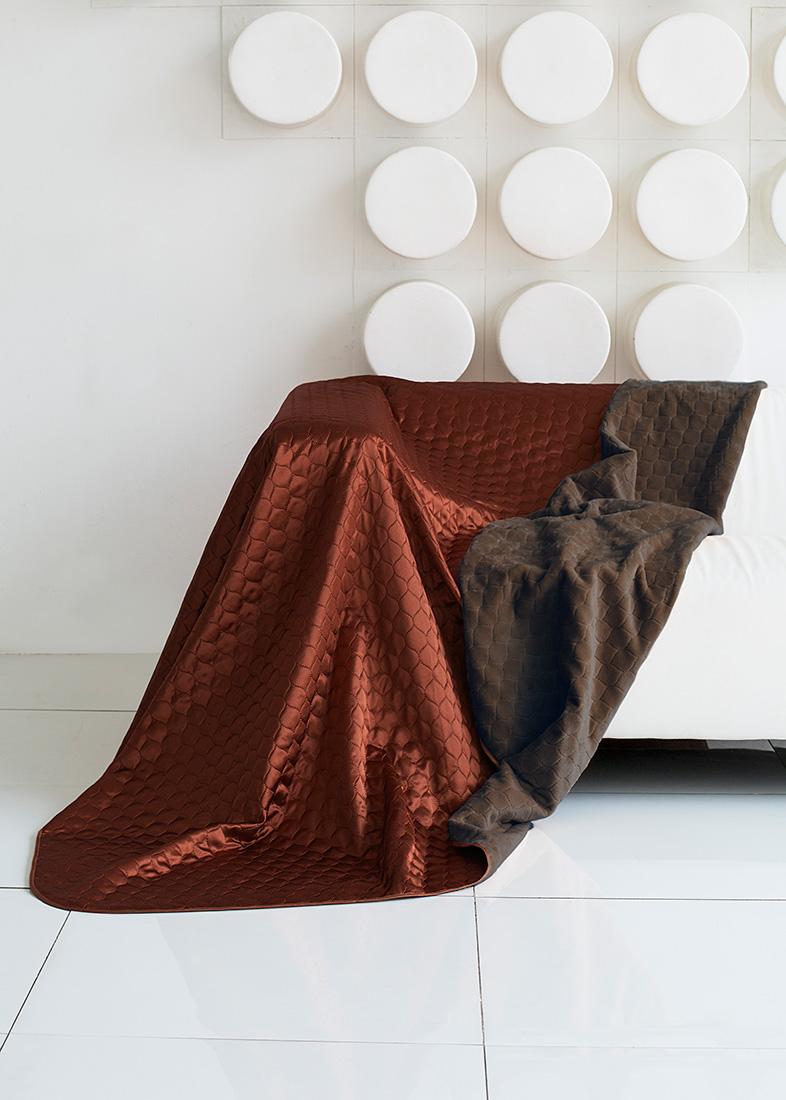 "Покрывало ""Sleep IX"", цвет: коричневый, 200 х 220 см. pva251833"