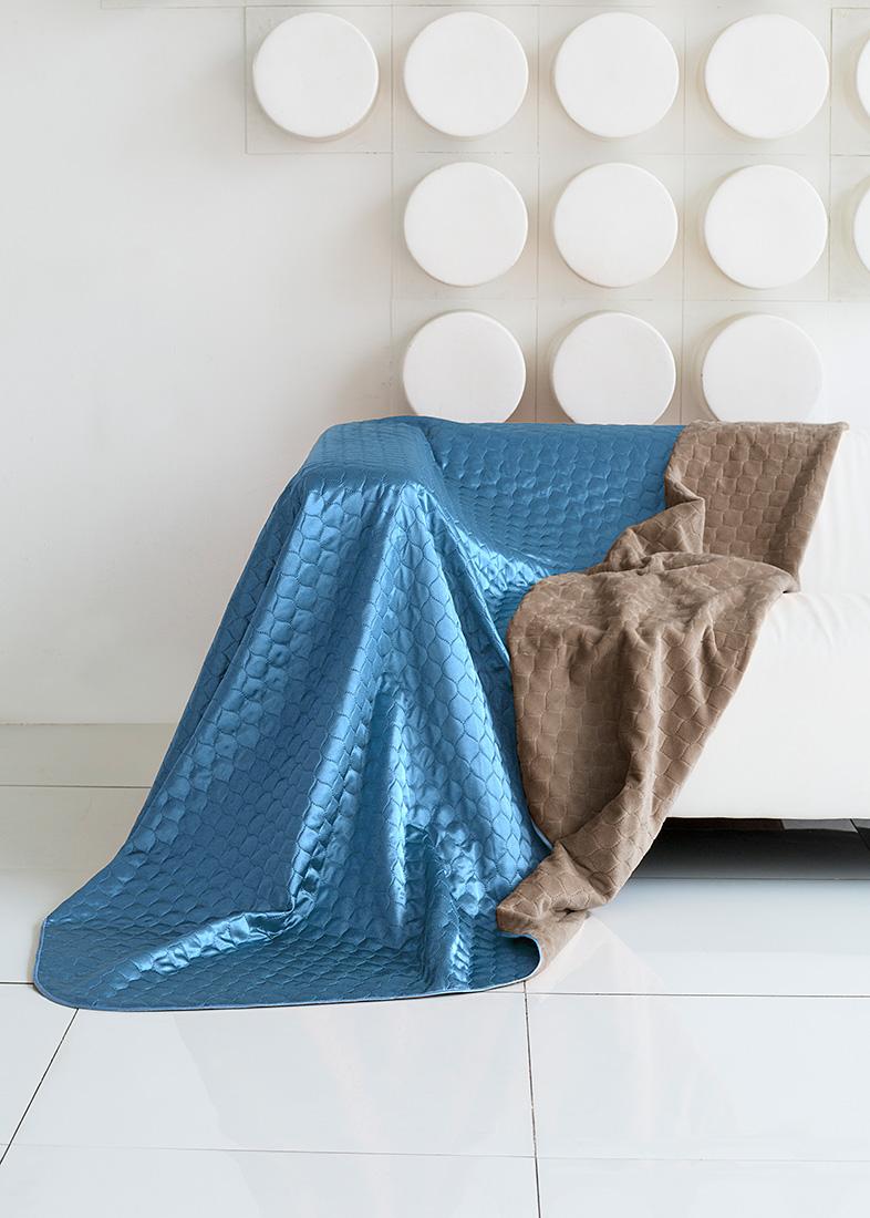 "Покрывало ""Sleep IX"", цвет: серый, голубой, 200 х 220 см. pva251838"