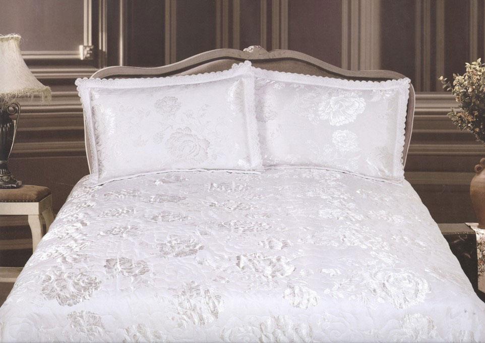 """Комплект для спальни СайлиД """"H-33"""": покрывало 230 х 250 см, наволочки 50х70 см, цвет: белый"""
