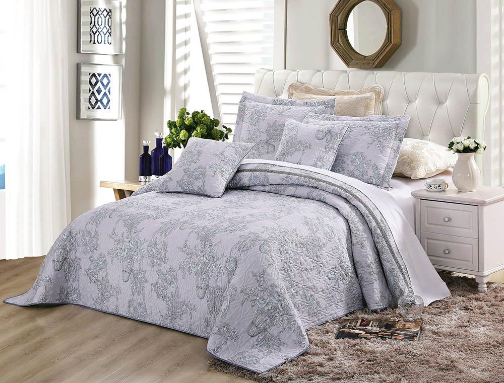 """Комплект для спальни Tango """"Madeira"""": покрывало 160 х 240 см, наволочки 50 х 50 см, цвет: голубой"""