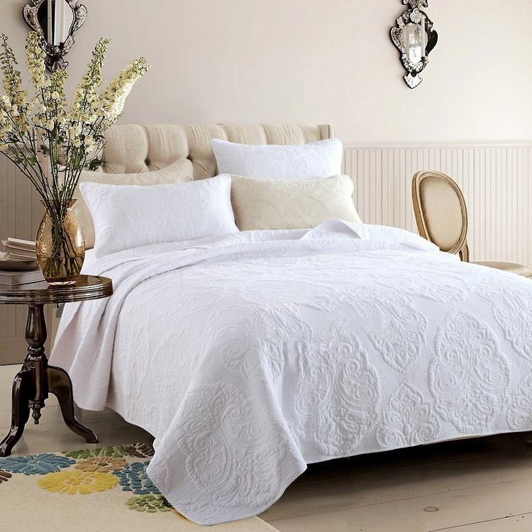 "Комплект для спальни Tango ""Pachwork"": покрывало 230 х 250 см, наволочки 50х70 см, цвет: белый. tan321654"