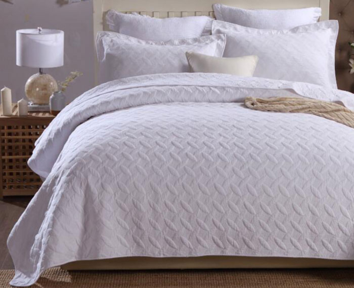 "Комплект для спальни Tango ""Pachwork"": покрывало 230 х 250 см, наволочки 50х70 см, цвет: белый. tan321746"