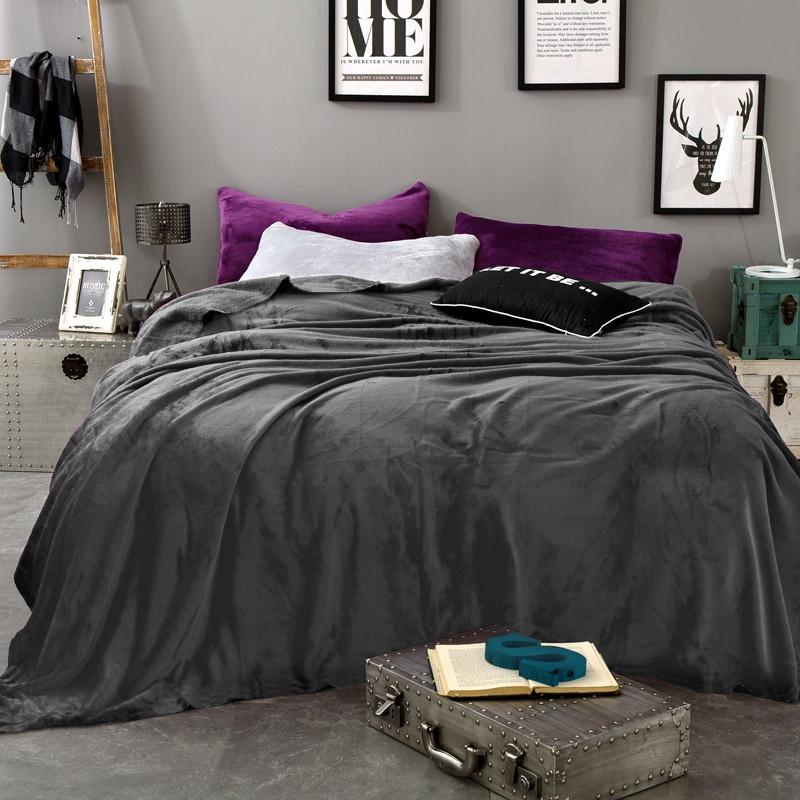 Плед Tango Arcobaleno, цвет: темно-серый, 200 х 220 см