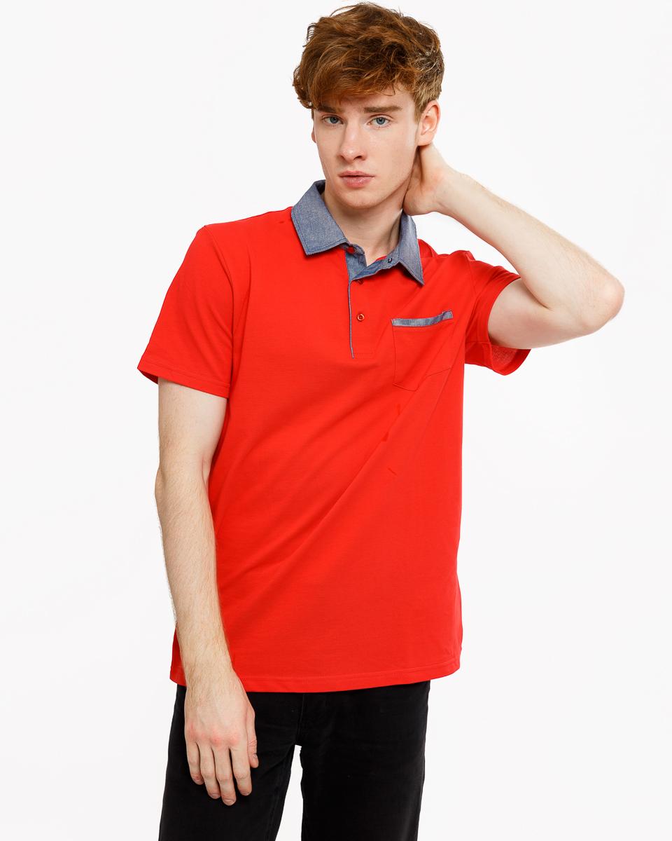 Футболка мужская Mark Formelle, цвет: красный. 111648_17-526-11. Размер M (48) футболка мужская robin ruth медведи цвет белый синий красный mv 003 размер m 46 48