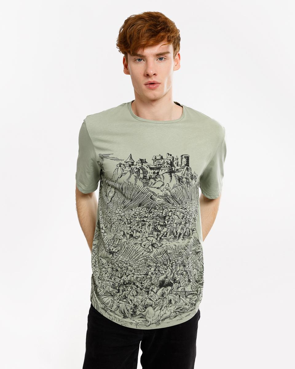 Футболка мужская Mark Formelle, цвет: оливковый. 111669_17-515-0. Размер M (48) mark bufalo футболка
