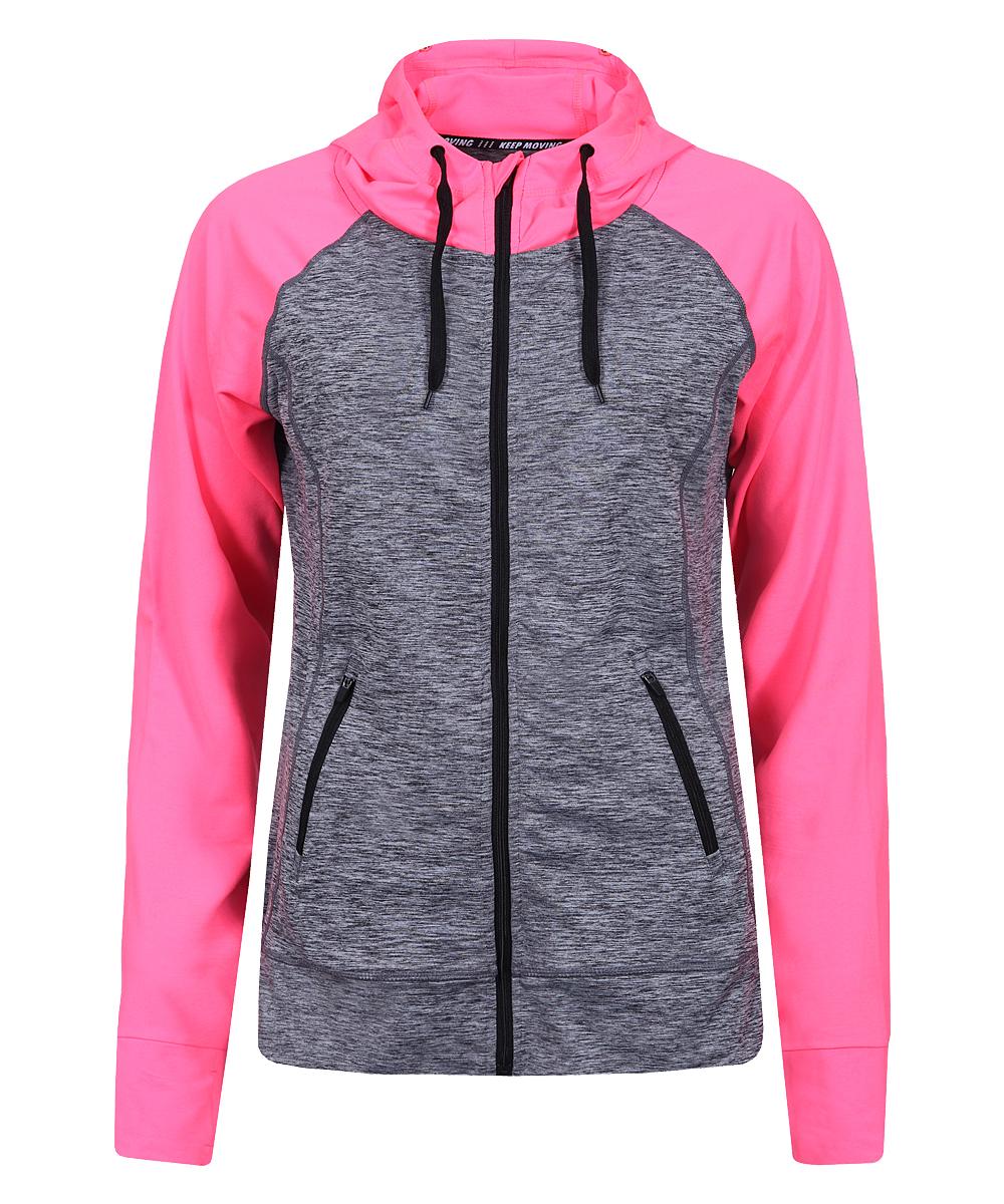 Купить Худи женское Guahoo, цвет: серый, розовый. G33-9371JT/PK. Размер XS (42)
