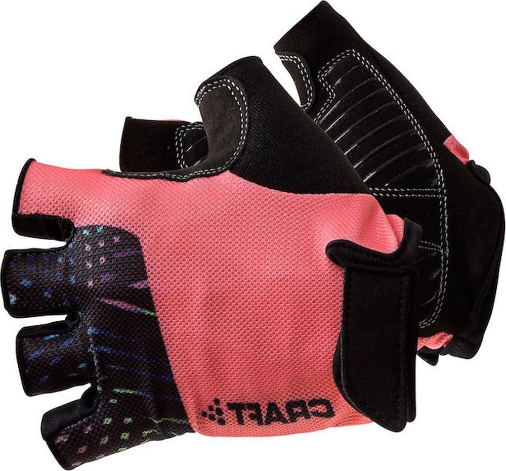 Велоперчатки Craft Go Glove, цвет: черный, розовый. 1906148/999900. Размер XXS (6)1906148/999900