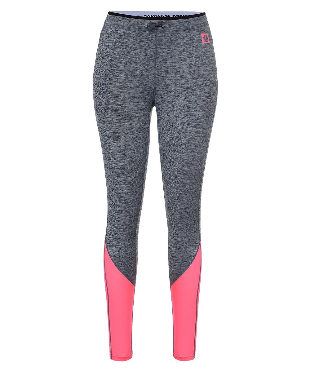 Брюки спортивные женские Guahoo, цвет: серый, розовый. G43-8561T/PK. Размер XL (50)G43-8561T/PKЖенские спортивные брюки, длина 7/8теплые и комфортные для тренировок в прохладную погоду;внутренняя сторона с начесом;мягкие эластичные плоские швы;рельефные линии кроя по всей длине;эластичный пояс с надписью на регулируемых завязках- шнурках;контрастное сочетание двух цветов;светоотражающие полоски для видимости в условиях плохого освещения;длина по внутреннему шву 64 см (размер S).