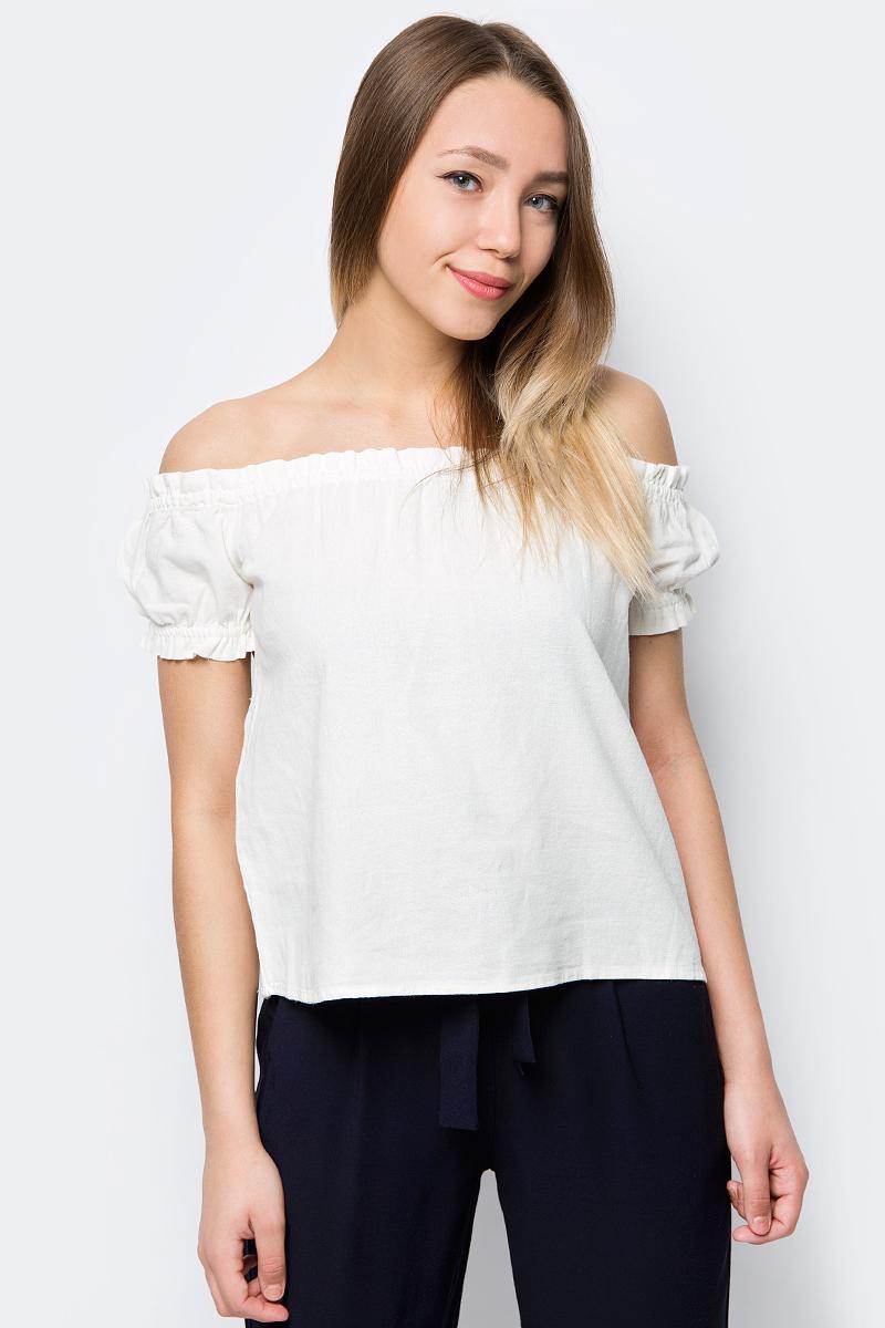 Блузка женская Vero Moda, цвет: белый. 10193736. Размер M (44) блузка женская vero moda цвет черный 10187780 black размер 42 44