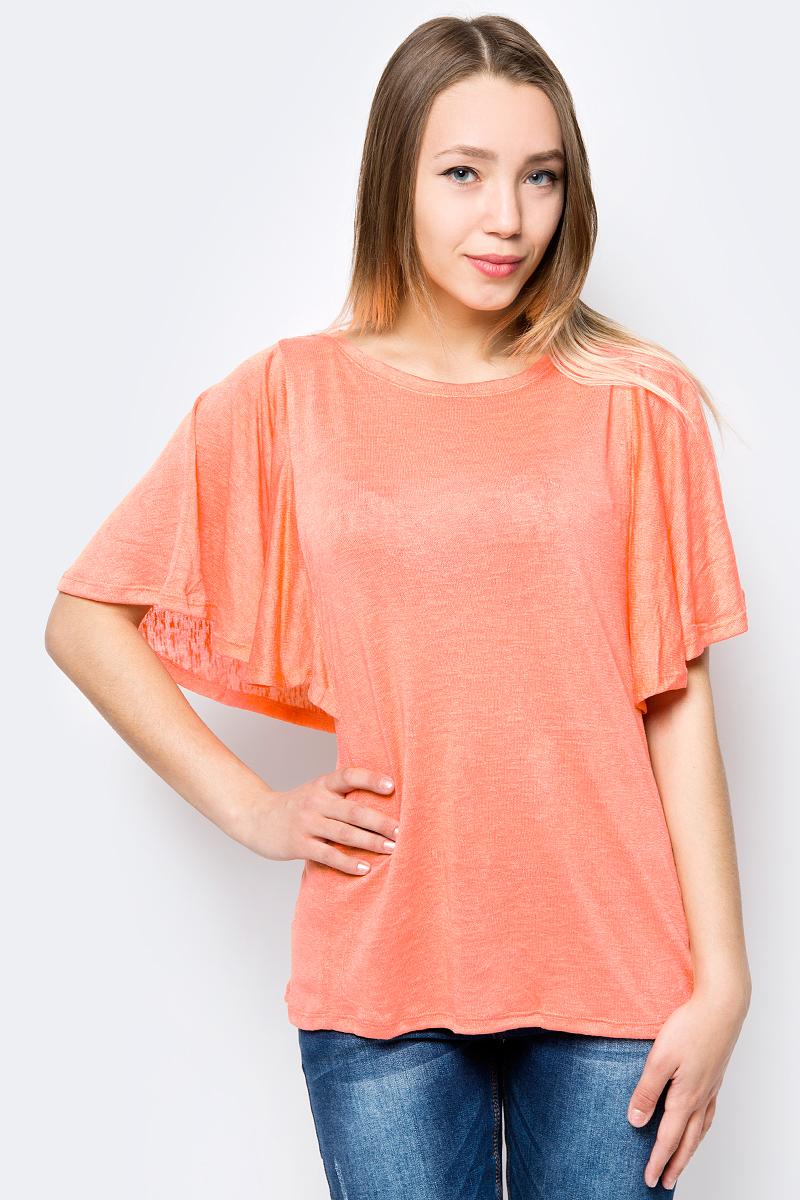 Блузка женская Sela, цвет: светло-коралловый. Ts-111/1333-8234. Размер XS (42)