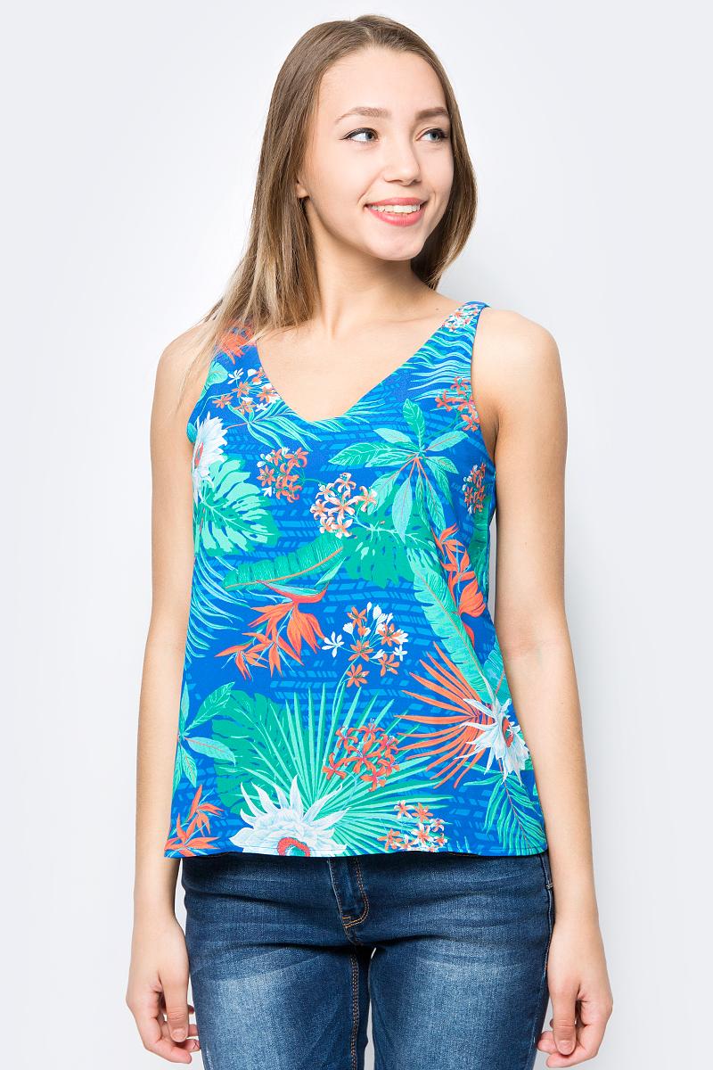 Блузка женская Sela, цвет: синий. Twsl-112/311-8234P. Размер 46Twsl-112/311-8234P