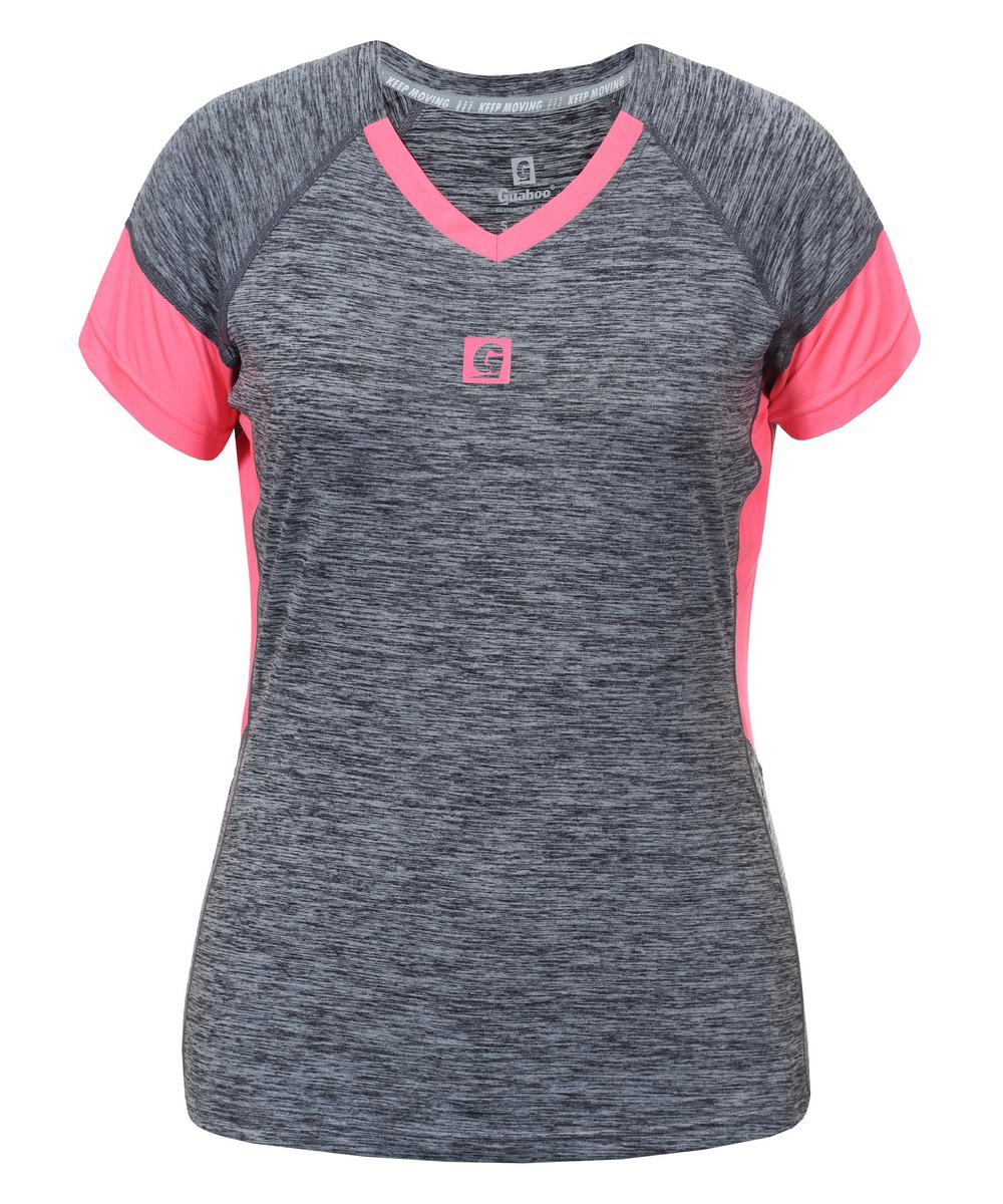Купить Футболка женская Guahoo, цвет: серый, розовый. G33-9371TS/PK. Размер M (46)
